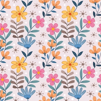 Colorful flowers seamless pattern for fabric textile wallpaper.
