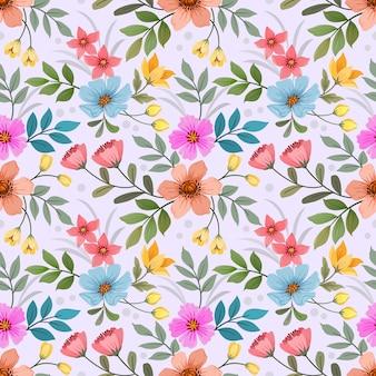 Бесшовный фон красочные цветы для тканевых текстильных обоев.