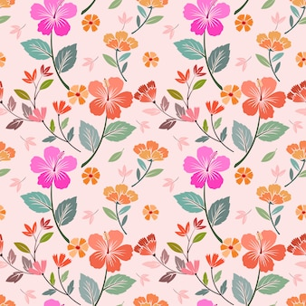 Colorful flowers seamless pattern vector design. can use for fabric textile wallpaper.