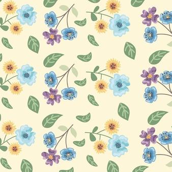 カラフルな花のシームレスなパターン