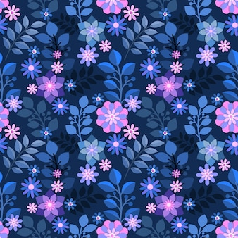 Бесшовный фон красочные цветы