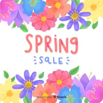 화려한 꽃 봄 판매 backgound