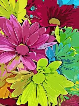 화려한 꽃 수채화 배경