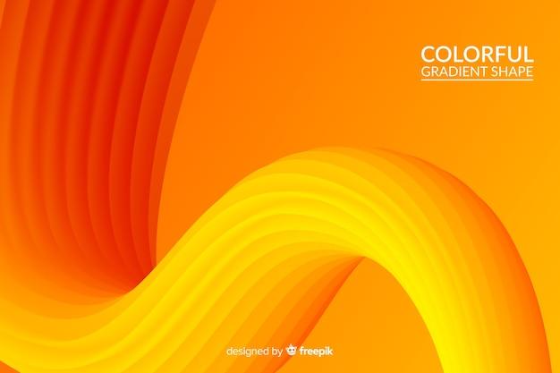 Colorful fluid 3d shape background