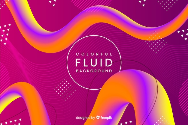 Colorful fluid 3d shape background