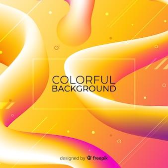 Colorful fluid 3d shapes background
