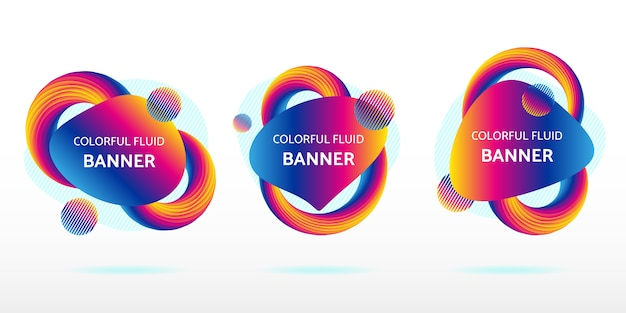 Colorful fluid abstract banner graphic