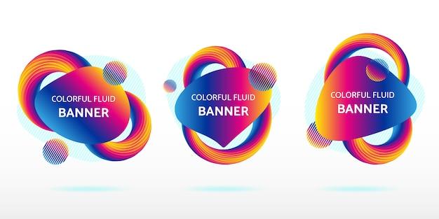 다채로운 유체 추상 배너 그래픽