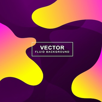 Colorful fluid background banner