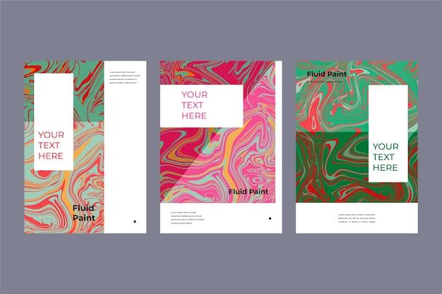 다채로운 유체 효과 포스터 템플릿 컬렉션