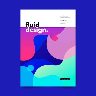 Colorful fluid effect poster template