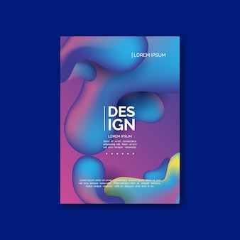 다채로운 유체 효과 포스터 템플릿