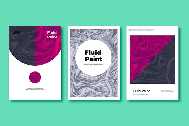 Colorful fluid effect poster