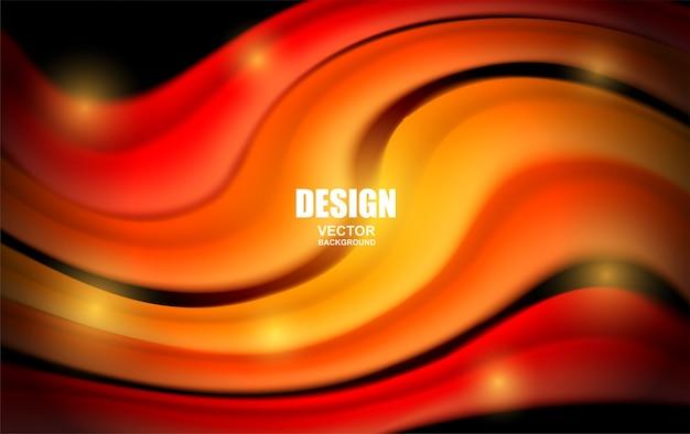 Colorful fluid flowing background. wave shape .