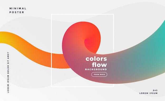Colorful fluid loop banner background
