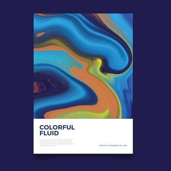 Colorful fluid poster template
