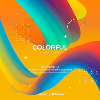 Sfondo colorato di forma fluida