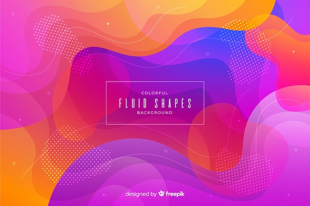 Colorful fluid shapes background