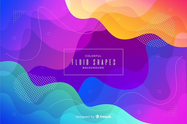 Colorful fluid shapes template