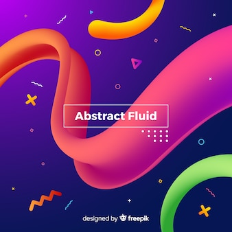 Colorful fluid tridimensional shape background