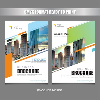 Colorful flyer cover template design