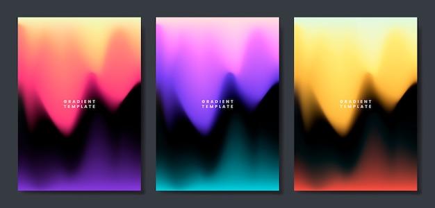 Colorful flyer template design illustration
