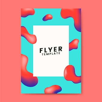 Colorful flyer template graphic design