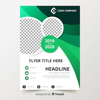 Colorful flyer template with flat design