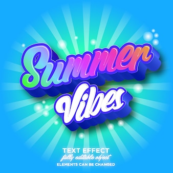 Colorful font effect for summer