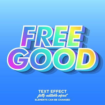 Colorful font effect with trendy gradient