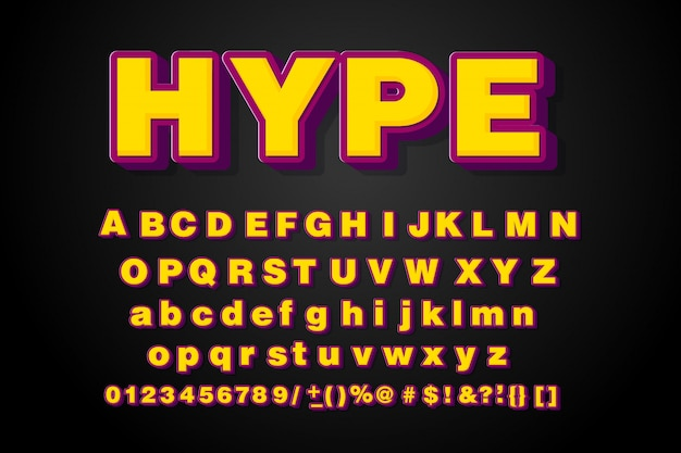 Colorful font modern typography. 3d alphabet .