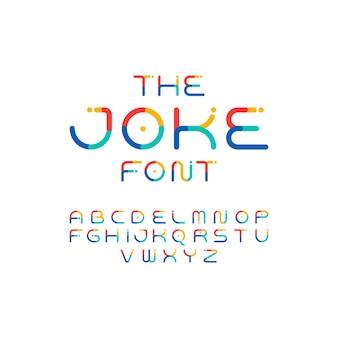 Красочный шрифт. игривый алфавит. вектор современный и забавный шрифт