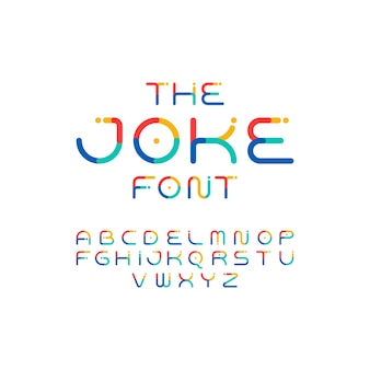 Colorful font. playful alphabet. vector modern and funny typeface