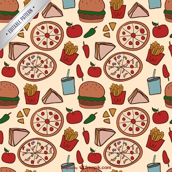 Colorful food pattern