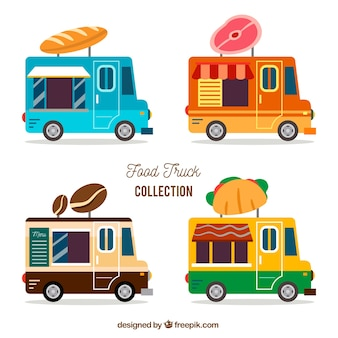 Colorful food truck collection
