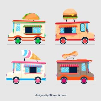 다채로운 음식 트럭 디자인