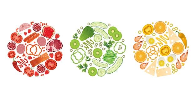 다채로운 음식.