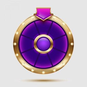 Красочный дизайн колесо фортуны. 3d реалистичные иллюстрации колесо фортуны