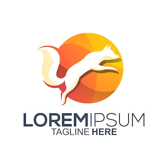 Colorful fox logo design