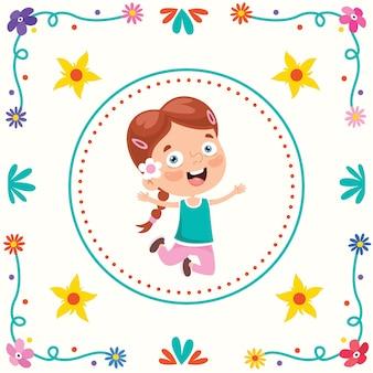 幸せな子供の日のためのカラフルなフレーム