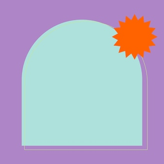 Colorful frame in pastel purple and blue