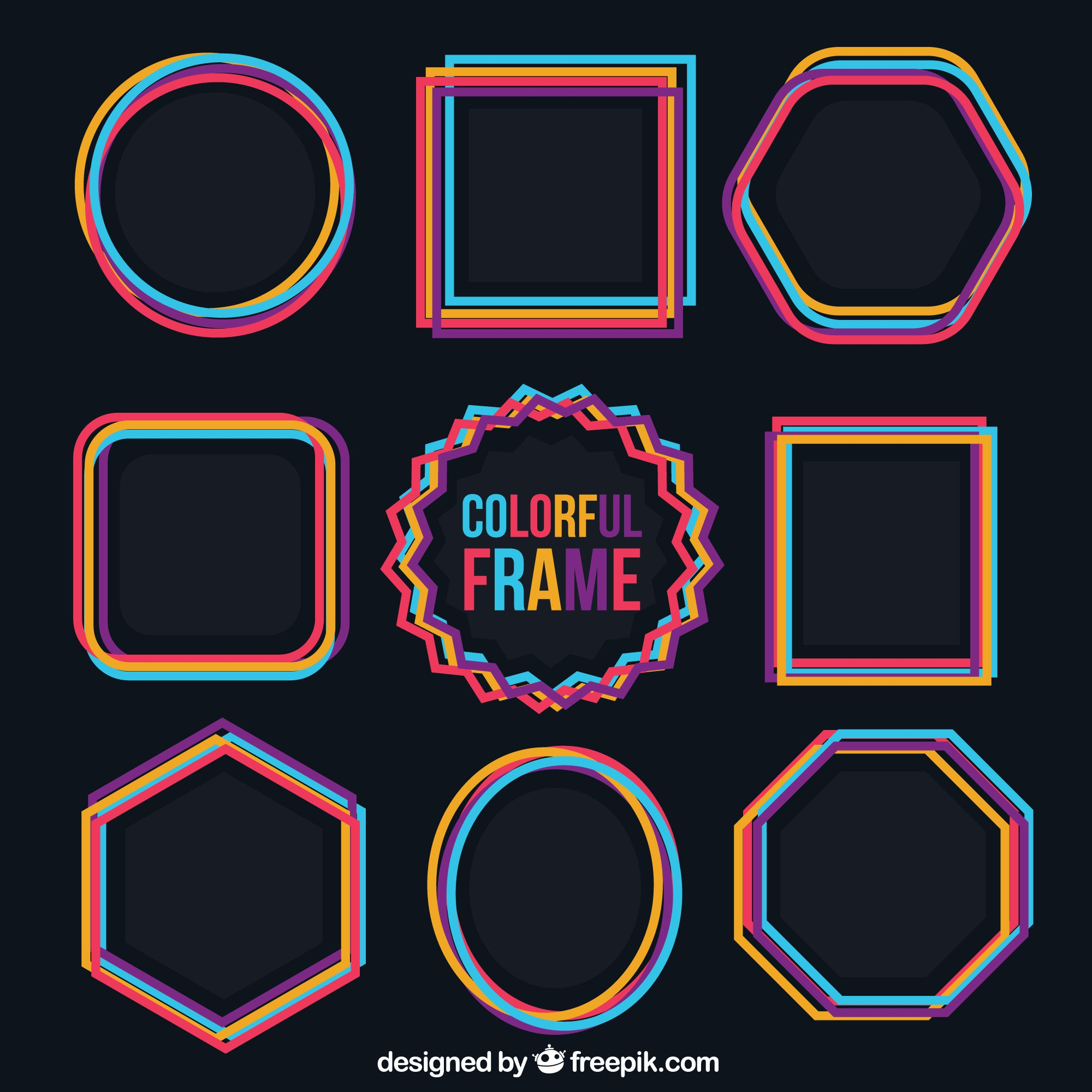 Colorful frames collection