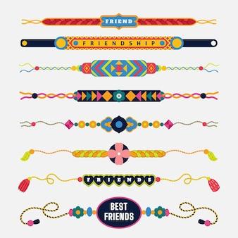 カラフルな友情バンドコレクション