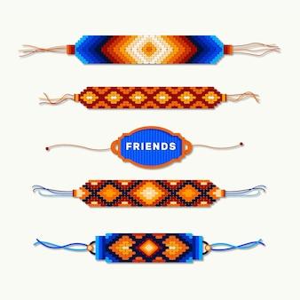 Красочная коллекция группы дружбы