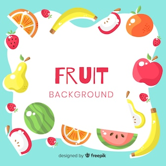 Colorful fruit background