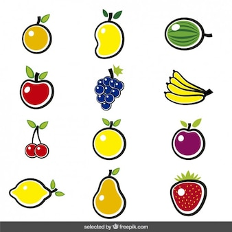 Colorful fruits collection
