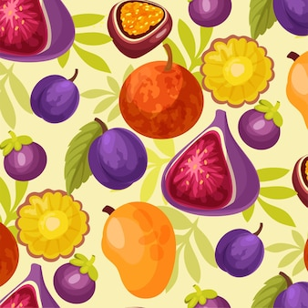 다채로운 과일 그림 수채화