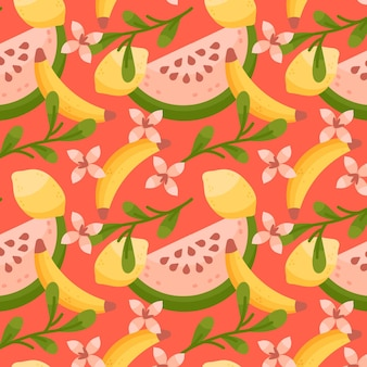 Colorful fruits pattern