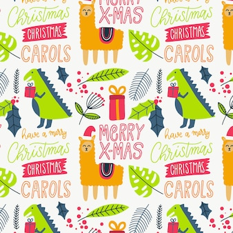 Colorful funny christmas pattern