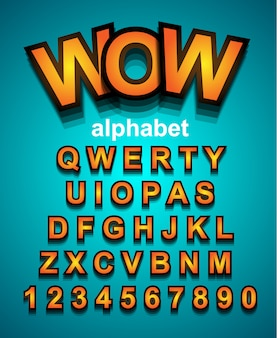 Colorful funny simple font for cartoon project, child event